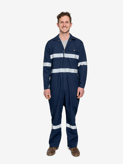 Insect Shield Men's Lightweight Cotton Coverall with Hi-VIs