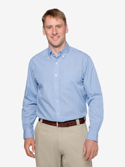 Men's Mini-plaid Wrinkle-Resistant Shirt