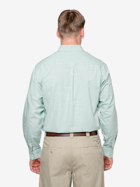 Insect Shield Men's Mini-Plaid Wrinkle-Resistant Shirt