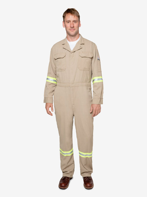 Men's 7 oz Tecasafe® FR Coverall w/ Hi-Vis