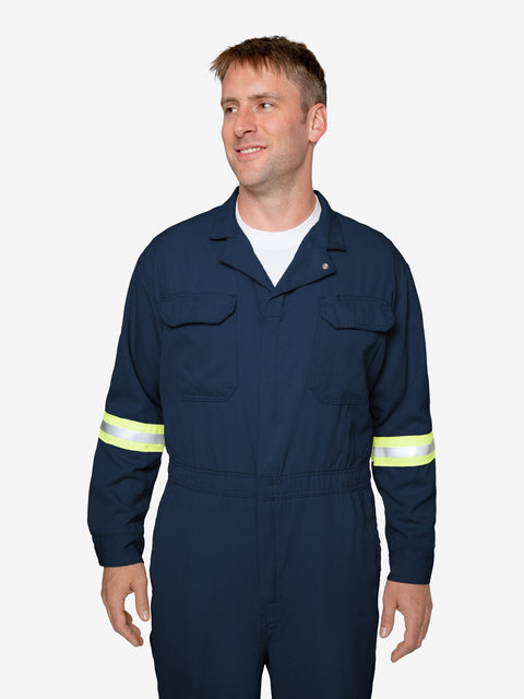 Insect Shield Men's 7 oz Tecasafe® Flame Resistant Coverall w/ Hi-Vis - Exxon Exclusive