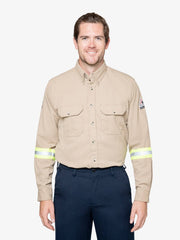 Men's 7 oz. Tecasafe® FR Uniform Shirt w/ Hi-Vis