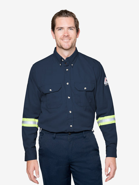 Insect Shield Men's 7 oz. Tecasafe® Flame Resistant Uniform Shirt w/ Hi-Vis