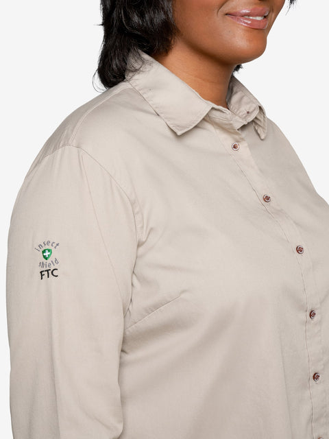 Insect Shield Women's Twill Work Shirt