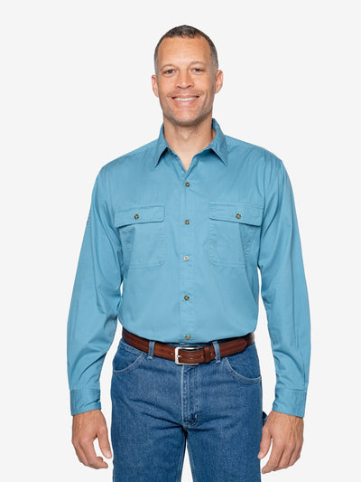 Men's Twill Work Shirt (Two Pocket)