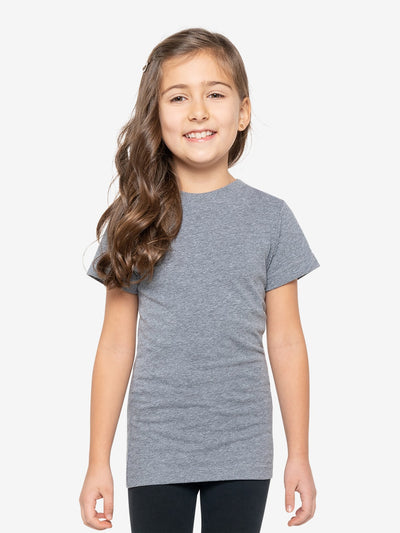 Girls' Insect Shield Short Sleeve T-Shirt, Granite Heather