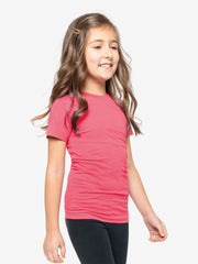 Girls' Insect Shield Short Sleeve T-Shirt, Raspberry