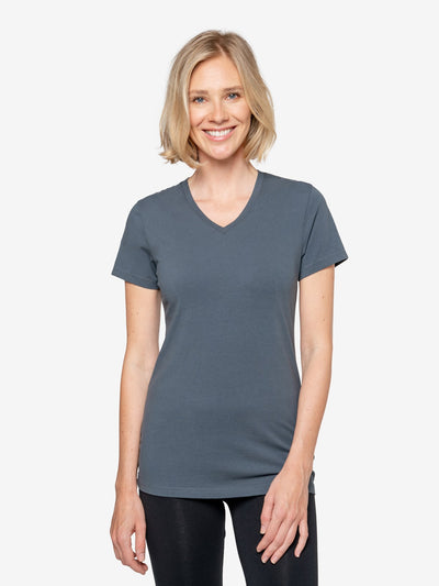 Womens Insect Shield UPF Dri-Balance Short Sleeve V-Neck T-Shirt