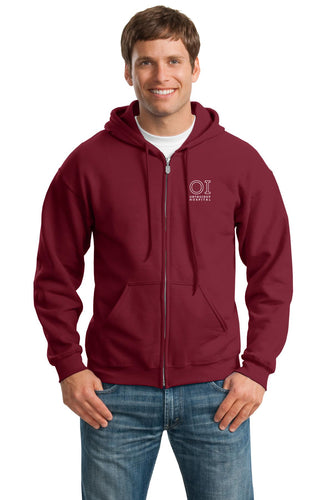 Heavy Blend 8 oz. 50/50 Full Zip Hood - OrthoIndy