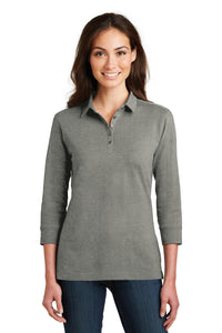 Port Authority Ladies 3/4-Sleeve Meridian Cotton Blend Polo - OrthoIndy