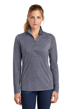Load image into Gallery viewer, Sport-Tek ® Ladies PosiCharge ® Tri-Blend Wicking 1/4-Zip Pullover