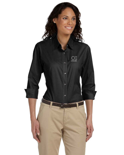 Ladies' Three Quarter Sleeve Stretch Poplin Blouse - OrthoIndy