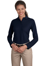Load image into Gallery viewer, Port Authority® Ladies Long Sleeve Silk Touch™ Polo