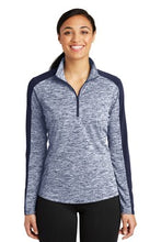 Load image into Gallery viewer, Sport-Tek® Ladies PosiCharge® Electric Heather Colorblock 1/4-Zip Pullover