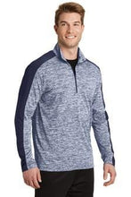 Load image into Gallery viewer, Sport-Tek® PosiCharge® Electric Heather Colorblock 1/4-Zip Pullover