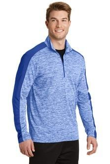Sport-Tek® PosiCharge® Electric Heather Colorblock 1/4-Zip Pullover