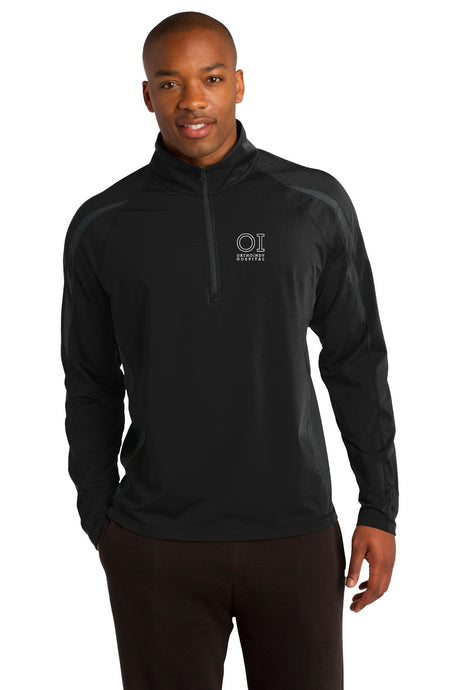 Sport-Tek® - Sport-Wick Stretch 1/2-Zip Colorblock Pullover