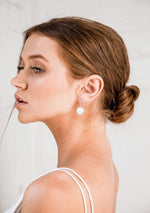 pearl drop bridal earrings