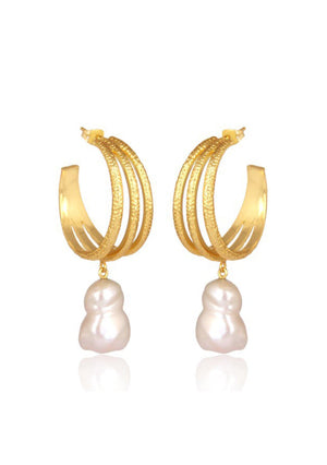 Load image into Gallery viewer, pearl drop bridal earrings