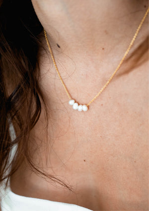 Load image into Gallery viewer, pearl bridal necklace