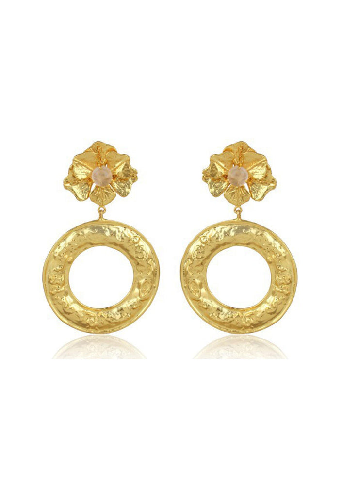 statement gold bridal earrings
