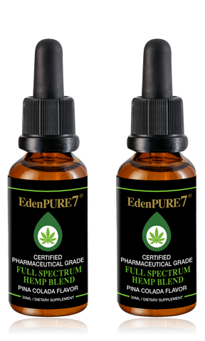EdenPURE7® Pharmaceutical Grade Hemp Blend - 2 Bottles