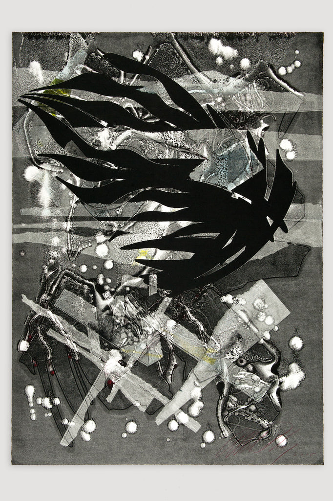 Burning Bones Texas Monoprint #24, 2015 by Albert Paley by Albert Paley sold by the modern archive