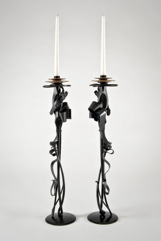 Scepter Candle Holders (Limited Edition) <br/> by Albert Paley