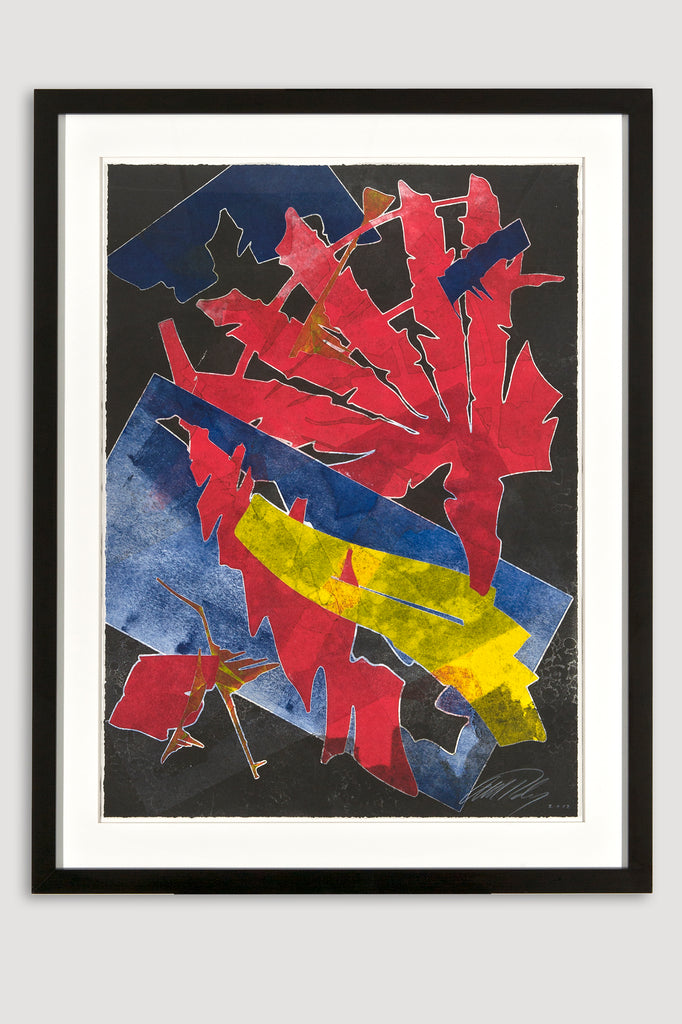 Burning Bones Texas Monoprint 4 by Albert Paley sold by the modern archive