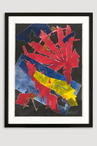Burning Bones Texas Monoprint 4<br/>by Albert Paley