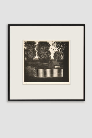 The Small Picket Fence Mezzotint <br/> by Robert Kipniss