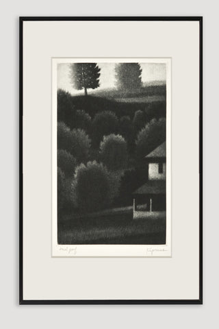 Porch and Hillside Mezzotint<br/>by Robert Kipniss