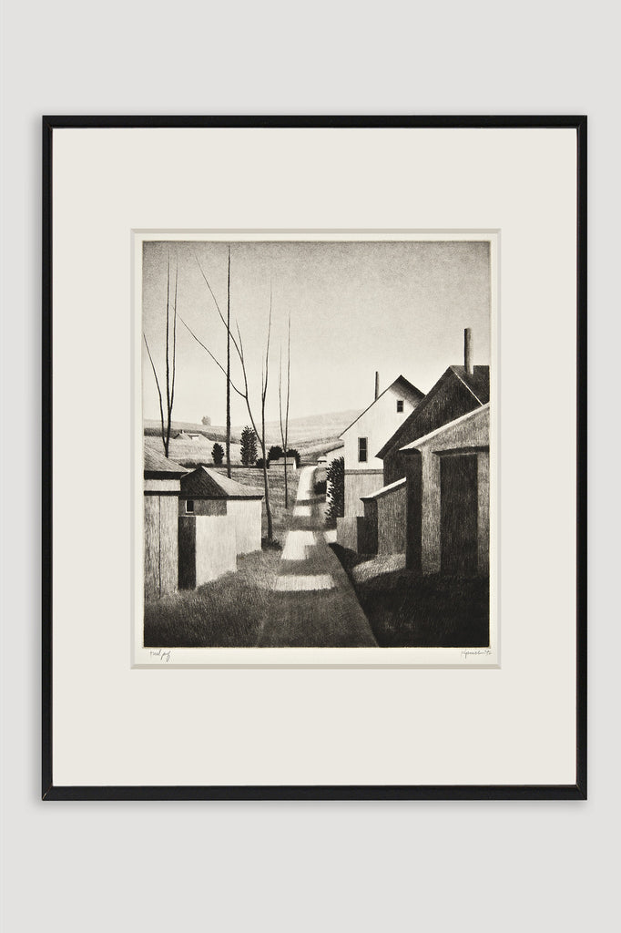Springfield O Drypoint by Robert Kipniss sold by the modern archive