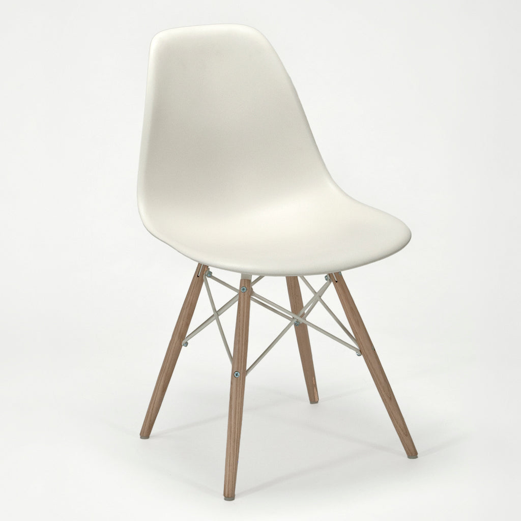 Pair Of Eames Molded Plastic Dowel Leg Side Chairs (DSW) Sold By The