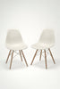 Pair of Eames Molded Plastic Dowel-Leg Side Chairs (DSW) sold by the modern archive
