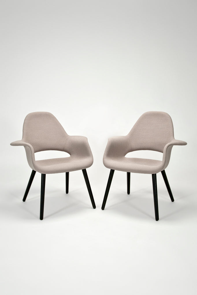 Pair of Organic Armchairs by Charles Eames and Eero Saarinen for Vitra sold by the modern archive
