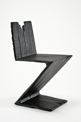 "Zig Zag Chair from ""Where There's Smoke..."" by Maarten Baas"