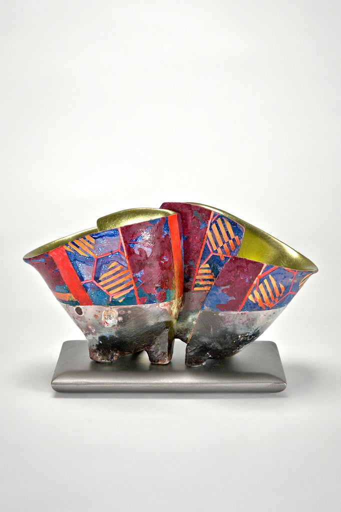 Pair of Vessels on Base by Bennett Bean sold by the modern archive