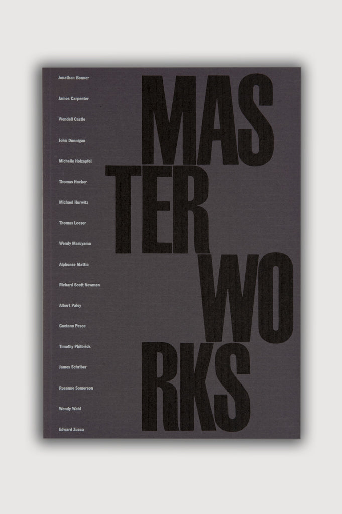 Master Works Peter Joseph Gallery Exhibition Catalogue