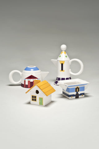 The Village Coffee and Tea Set (Prototype) <br/> by Robert Venturi for Swid Powell