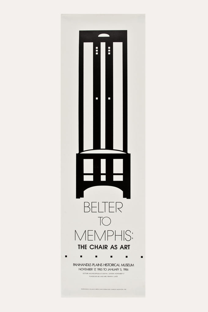 Belter to Memphis: The Chair as Art Poster by the Panhandle Plains Historical Museum