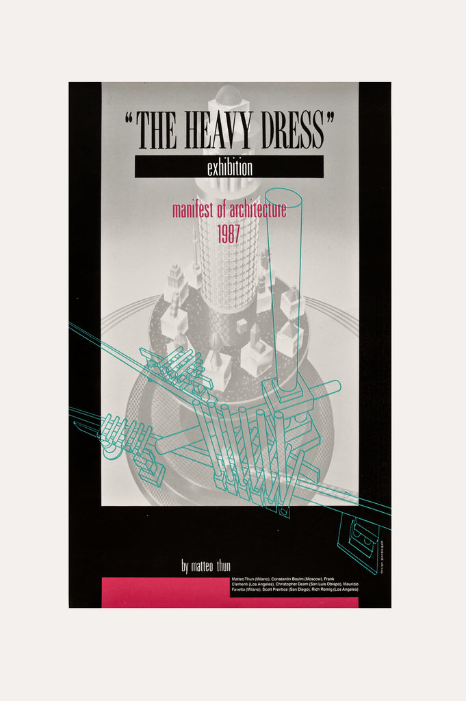 The Heavy Dress Exhibition: Manifest of Architecture Poster by Matteo Thun