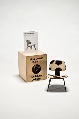 LCW with Fur (1:6 Scale Miniature-Prototype) <br/> by Charles and Ray Eames