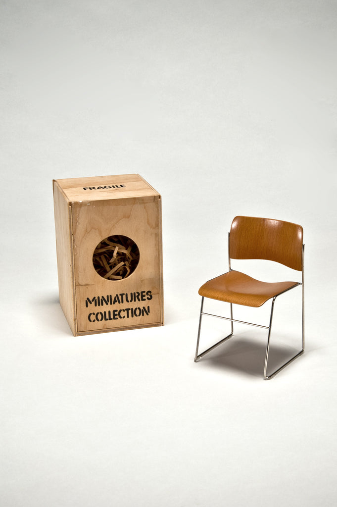 40/4 Chair, Prototype 1:6 Scale Miniature, by David Rowland