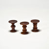 Eames Walnut Stools (1:6 Scale Miniatures) by Charles & Ray Eames