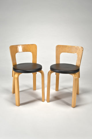 Chairs 65 (Set of 2) <br/>by Alvar Aalto from Artek 2nd Cycle