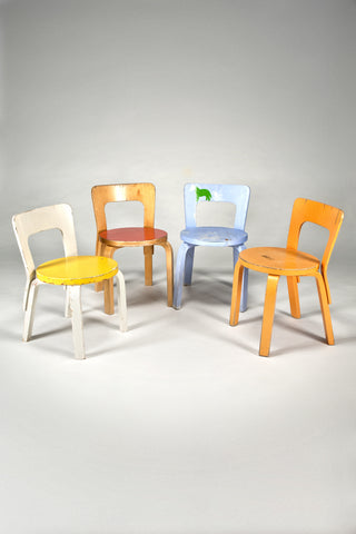 Children's Chairs N65 <br/>by Alvar Aalto from Artek 2nd Cycle