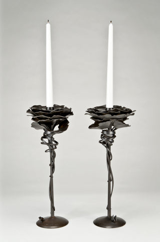 Gingko Candle Holders <br/> by Albert Paley