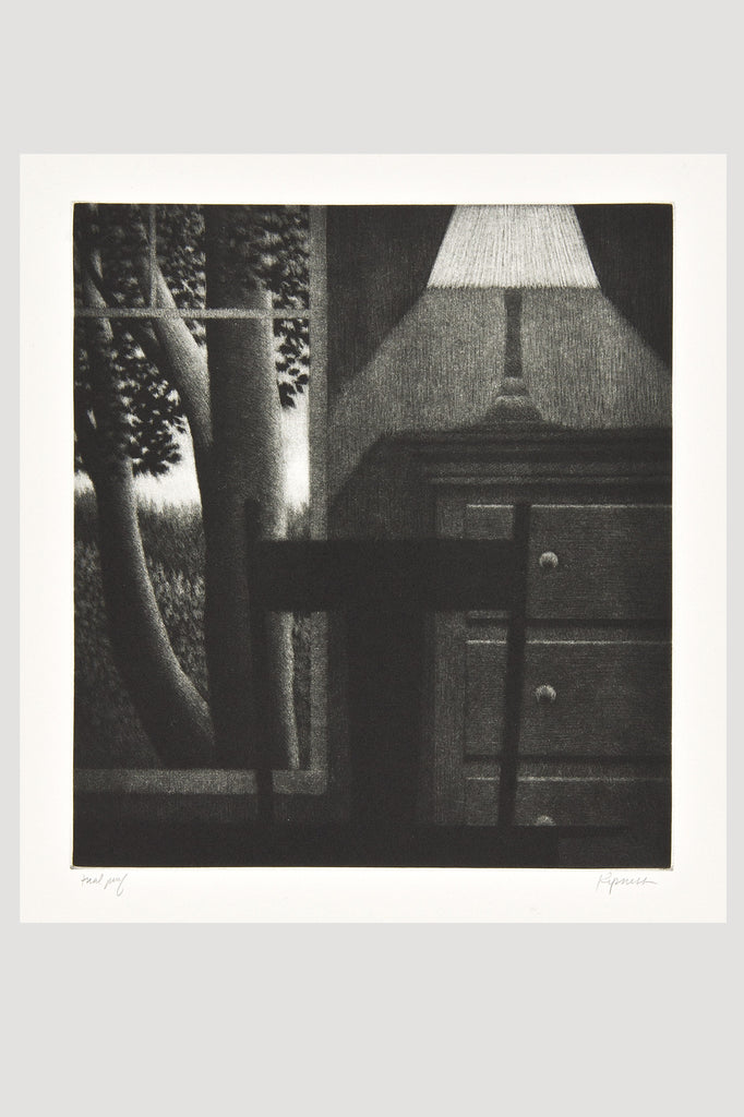Window with Lamp, Mezzotint by Robert Kipniss for sale by the modern archive