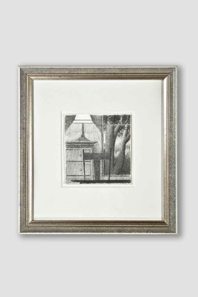 Window with Lamp 1991 Drawing by Robert Kipniss for sale by the modern archive
